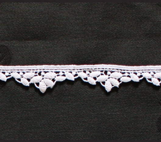 Borte aus Bio-Baumwolle Design 69750 - weiss