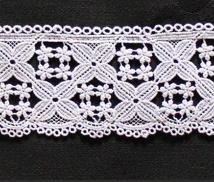 Borte aus Bio-Baumwolle Design 84450 - weiss