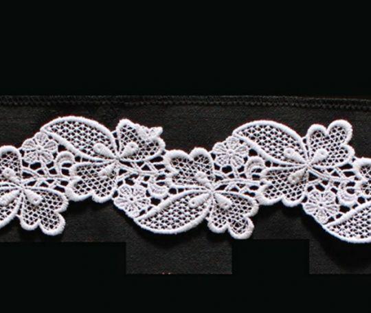 Borte aus Bio-Baumwolle Design 84940 - weiss