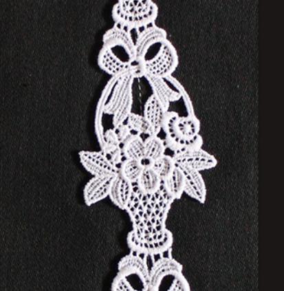 Borte aus Bio-Baumwolle Design 84950 - weiss