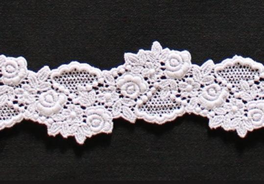 Borte aus Bio-Baumwolle Design 85028 - weiss