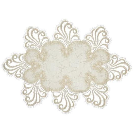 Design Nizza - 25 x 35 cm oval Damast E