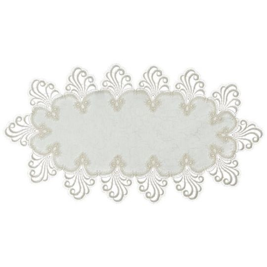 Design Nizza - 45 x 80 cm oval Damast E