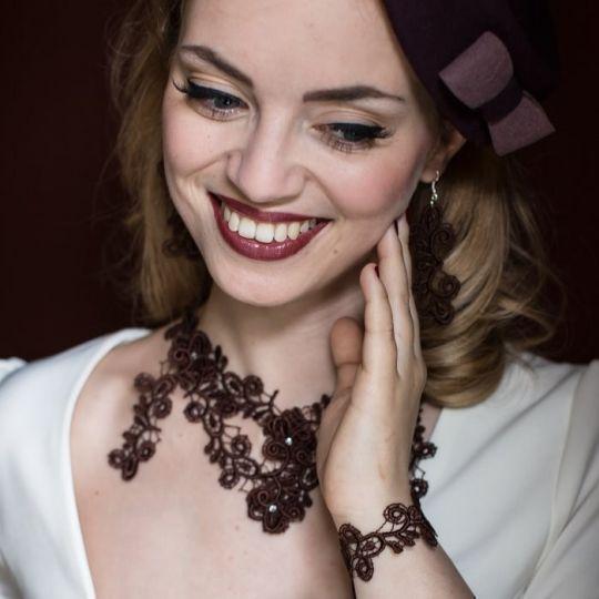 Collier Viviana - Mokka