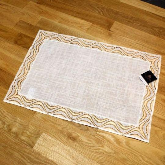 Design Luzern - 30 x 62 cm eckig Lachs   Acrylleinen AL