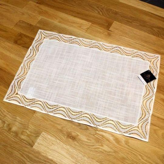 Design Luzern - 80 x 80 cm eckig Lachs   Acrylleinen AL