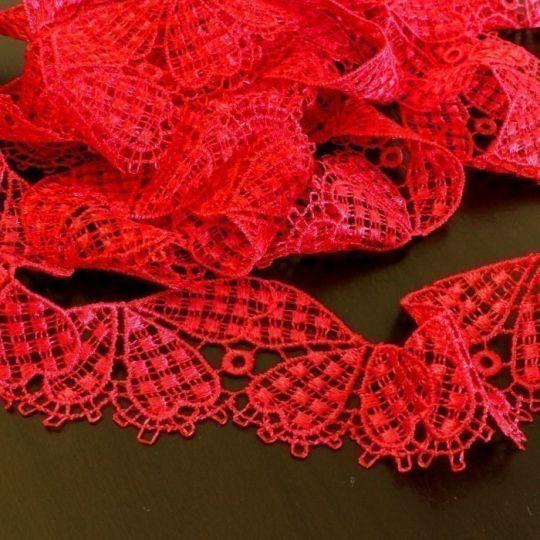 Spitzen-Borte B28 in Pink, 4 cm breit