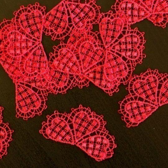 Blüten-Motiv in Pink - Set je 10 Stück