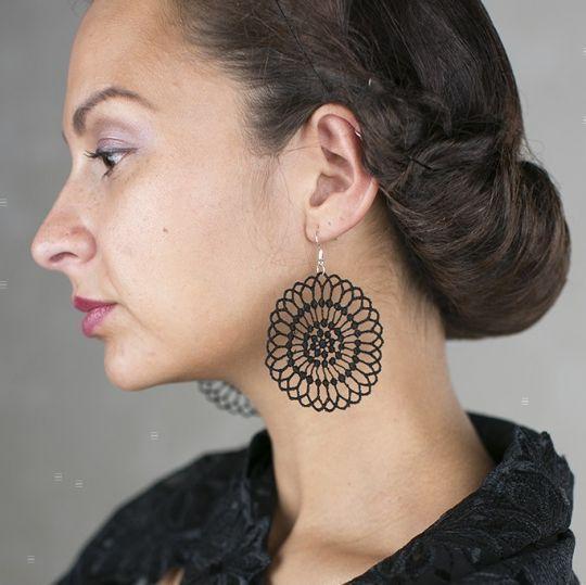 Ohrringe Virginia - Schwarz