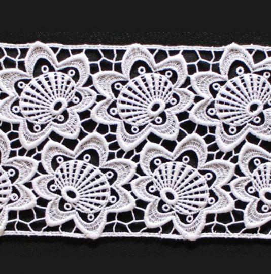 Borte aus Bio-Baumwolle Design 69764 - weiss