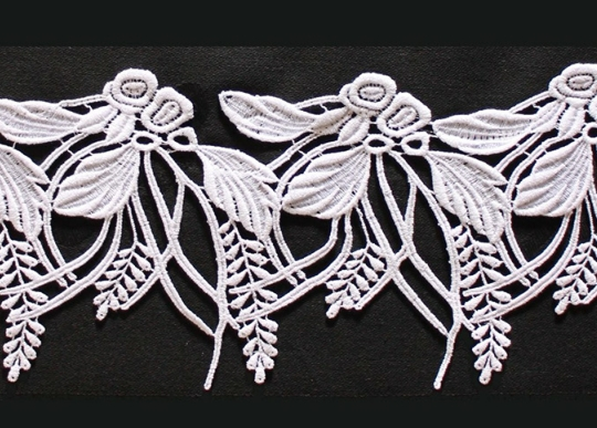 Borte aus Bio-Baumwolle Design 69636 - weiss