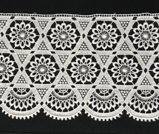 Borte aus Bio-Baumwolle Design 84402 - weiss