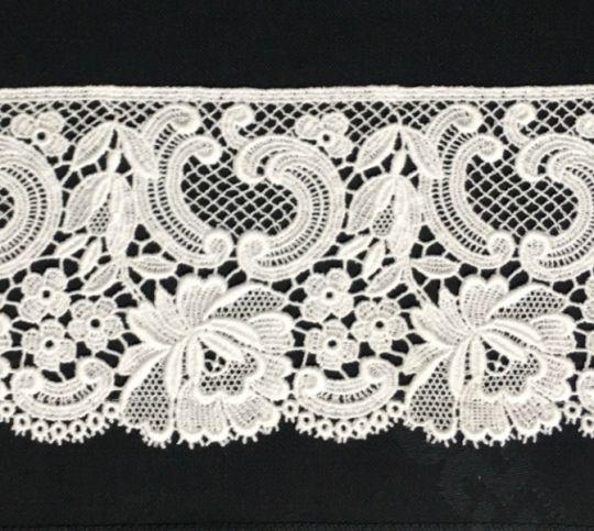 Borte aus Bio-Baumwolle Design 84516 - weiss