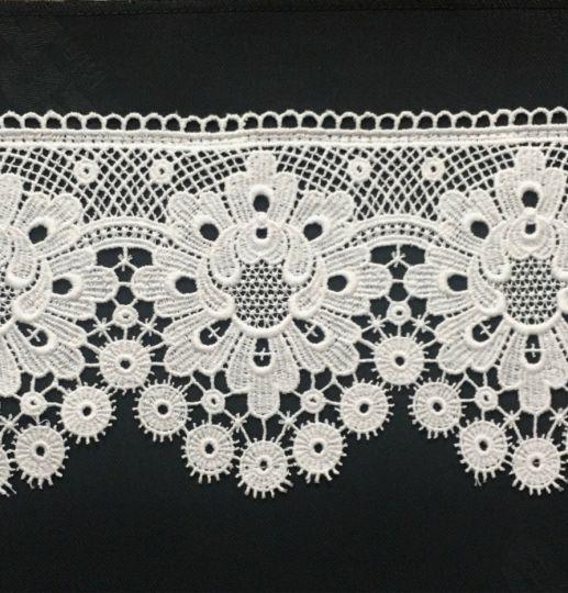 Borte aus Bio-Baumwolle Design 84908 - weiss