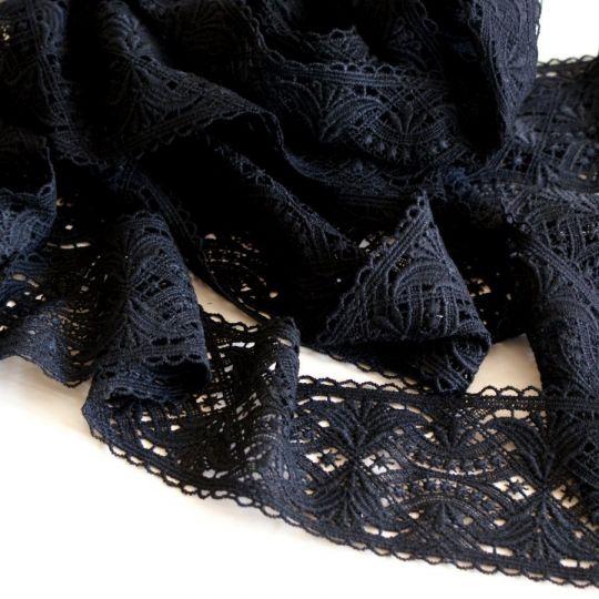 Spitzen-Borte B23 in Schwarz, 9 cm breit