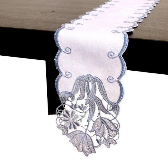 Tischband Tulpe - Blau | Breite 11,5 cm | versch. Längen