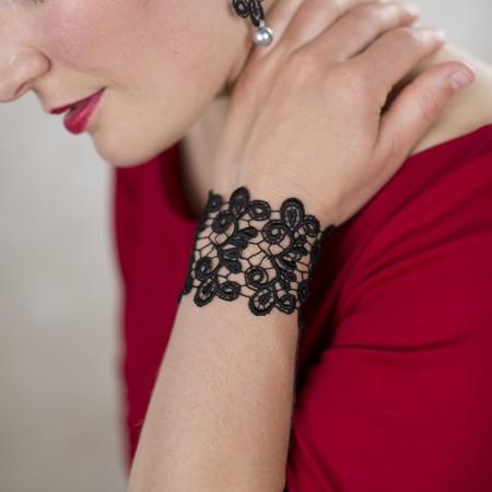 Breites Armband Viviana - Schwarz