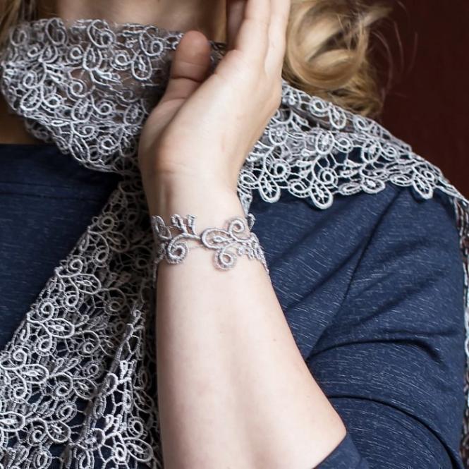 Schmales Armband Viviana - Silbergrau