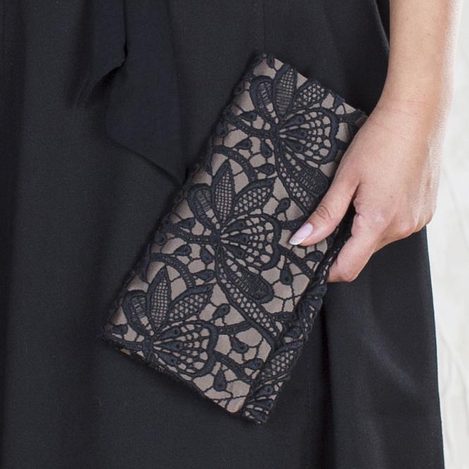 Handtasche Roxana - auf Satin Braun