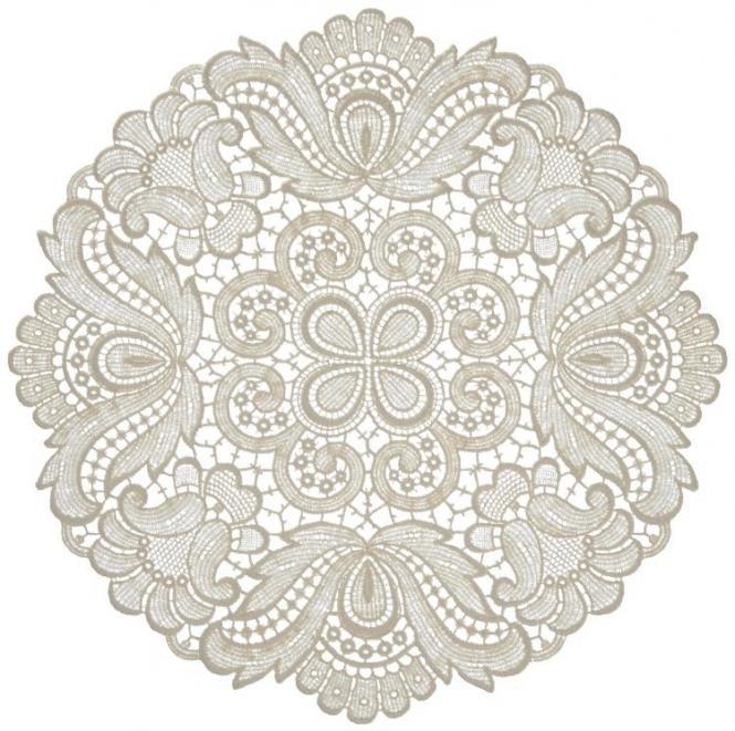 Design Plauen - 30 cm rund Weiß