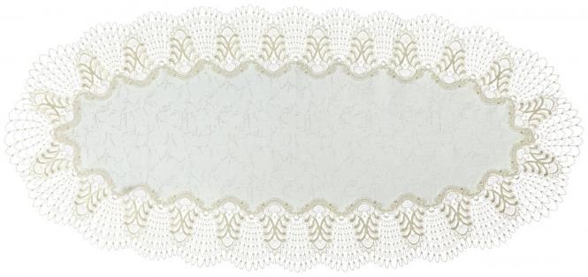 Tischdecke Design Oslo - 45 x 100 cm oval