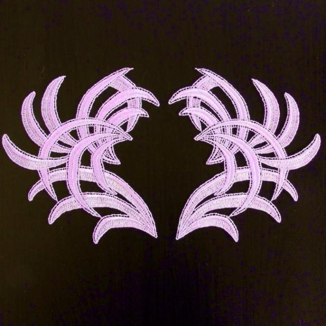 Motivpaar Federn - Lavendel