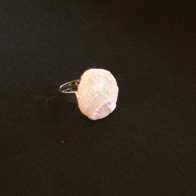 Ring Georgia - rosa Spitze