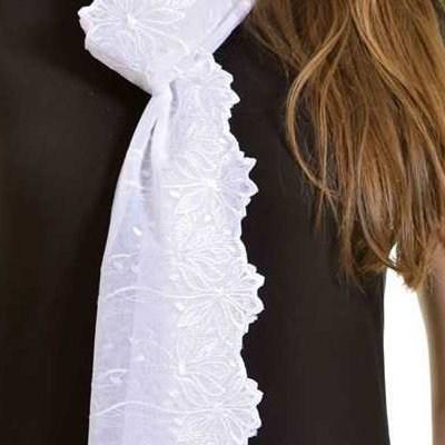 Schal Athene - Weiß
