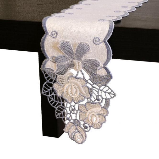 Tischband Rose - Blau