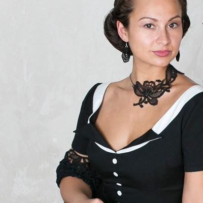 Collier Roxana - Schwarz