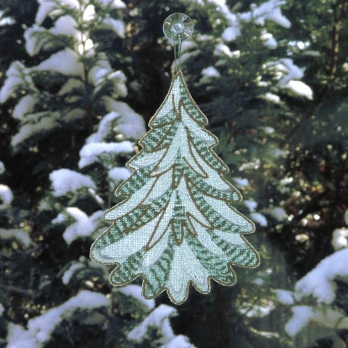 Spitze Für Tannenbaum.Fensterbild Tannenbaum